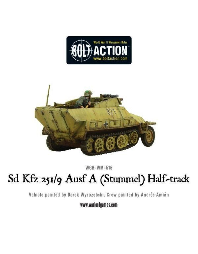 Bolt Action BA German Army: Sd.Kfz 251/9 Ausf D (Stummel) Half-Track