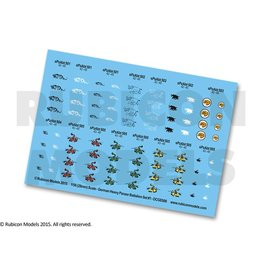Rubicon Models 28mm WWII: (German) Heavy Panzer Battalion Decal Set 1