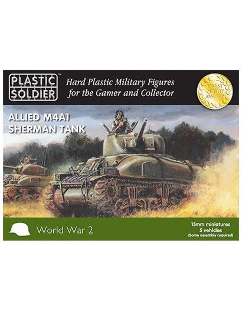 Plastic Soldier Company Allied M4A1 75mm Sherman Tank (5pcs)