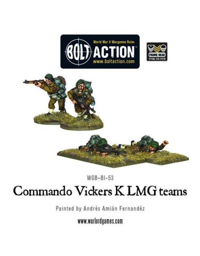 Bolt Action BA British Army: Commando Vickers K LMG Teams