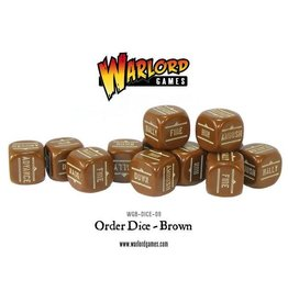 Bolt Action BA Orders Dice - Brown (12)