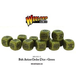 Bolt Action BA Orders Dice - Green (12)