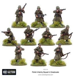 Bolt Action BA Polish Army: Infantry Squad with Great Coats (10)
