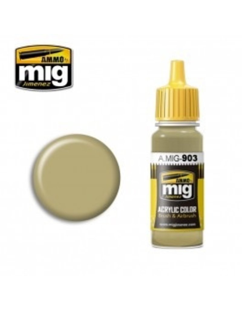 AMMO: of Mig Jimenez DIRECT A.MIG-0903 Acrylic Colors 17ml DUNKELGELB LIGHT BASE