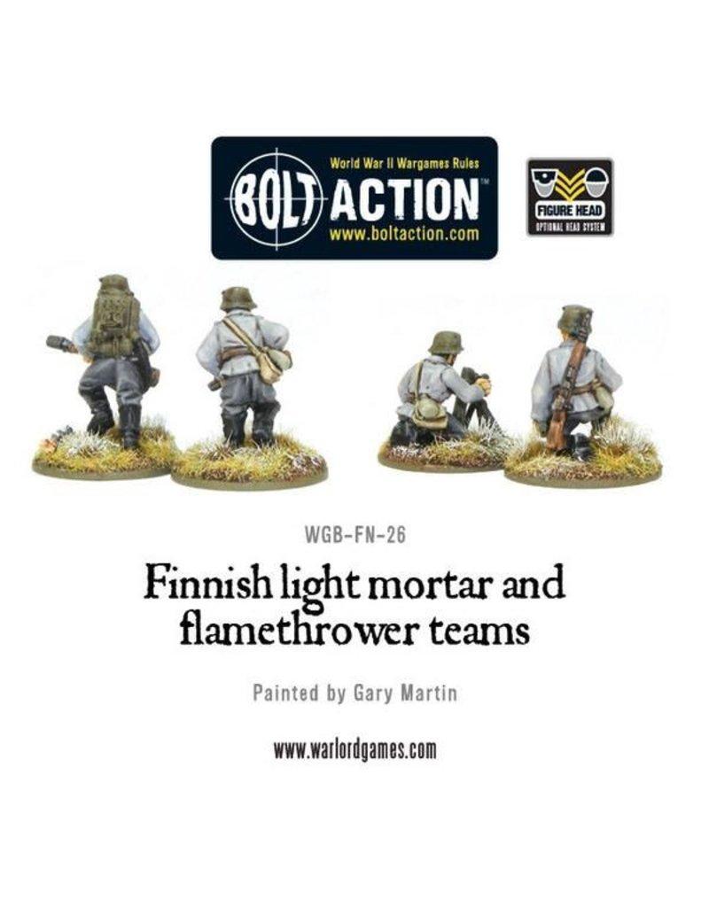 Bolt Action Finnish light mortar and flamethrower teams