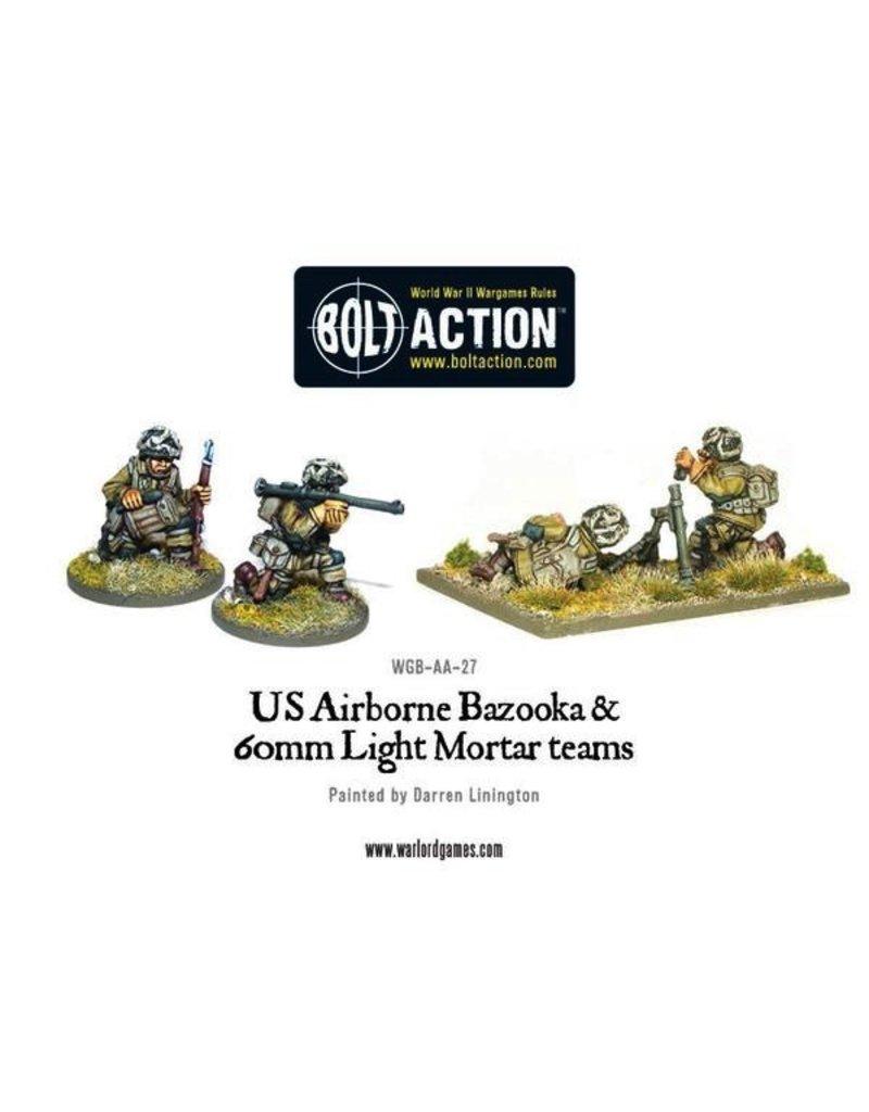 Bolt Action BA American Army: US Airborne Bazooka and 60mm Light Mortar Teams