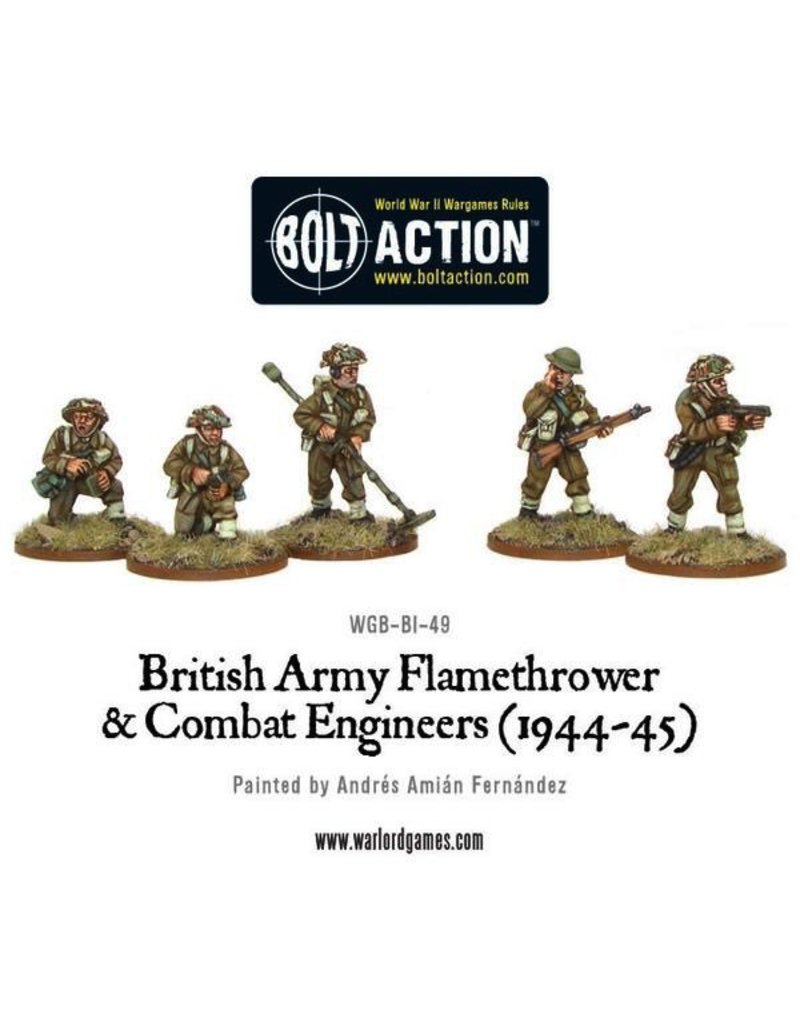 Bolt Action BA British Army: Combat Engineers & Flamethrower Team