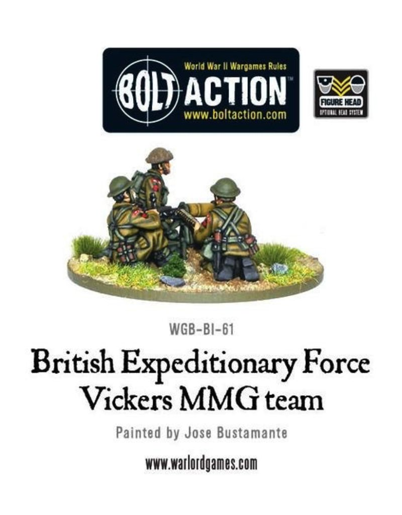 Bolt Action BA British Army: BEF Early War Vickers MMG Team