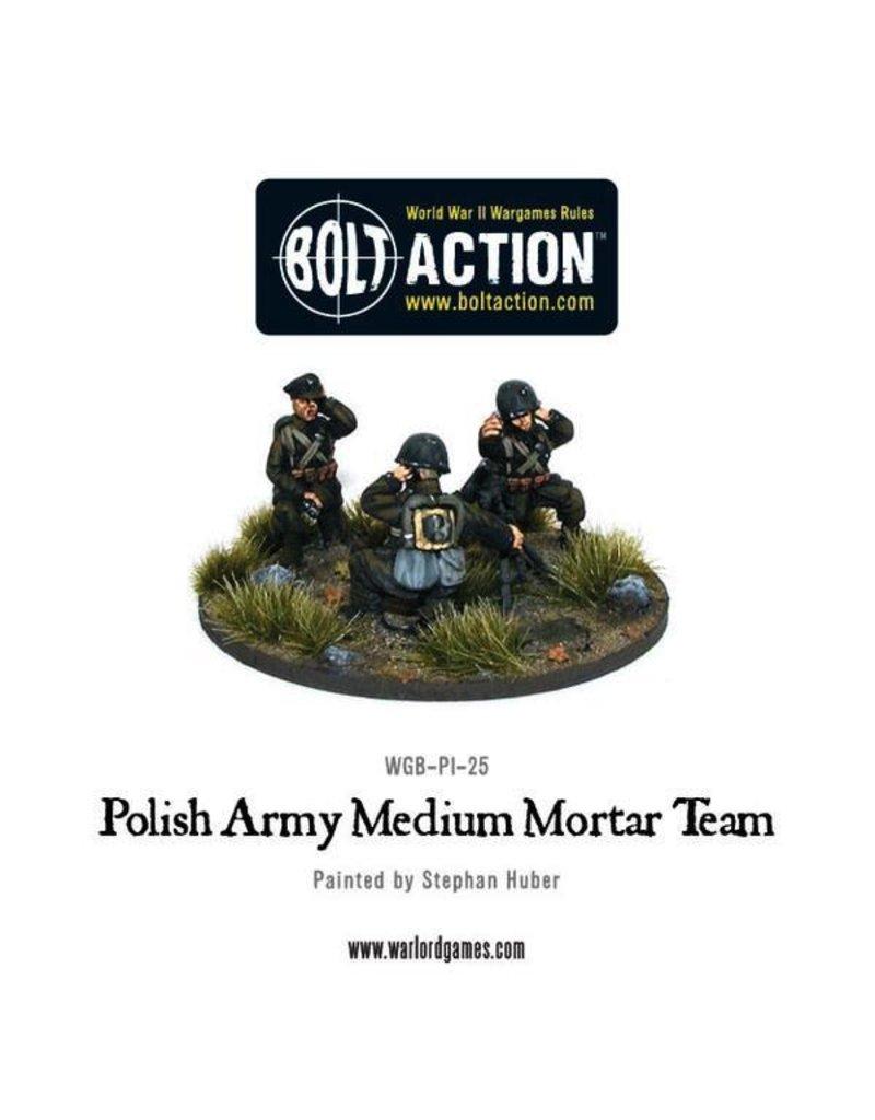 Bolt Action BA Polish Army: Medium Mortar Team