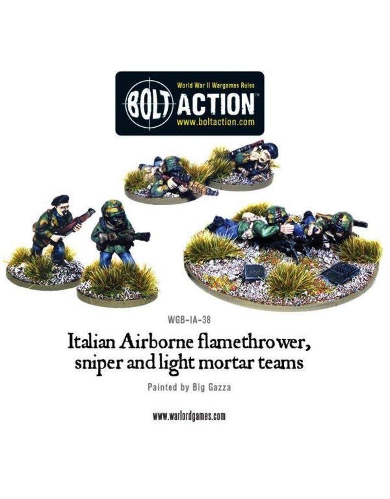 Bolt Action BA Italian Army: Airborne Flamethrower, Sniper, & Light Mortar Teams