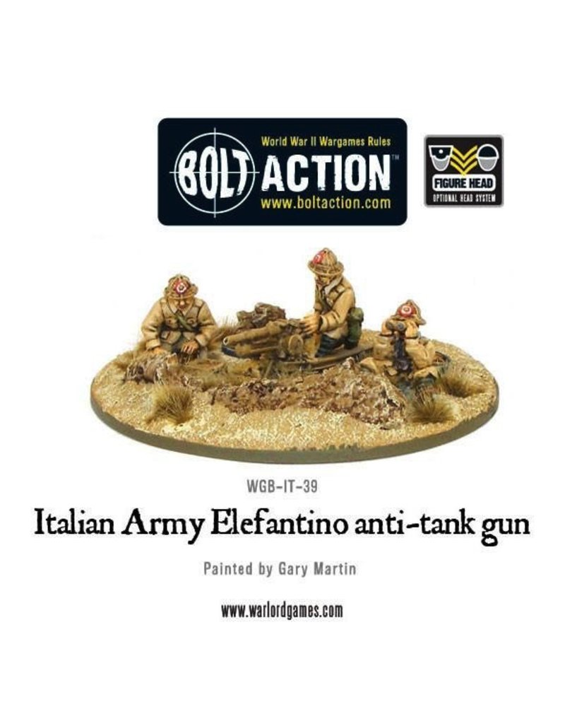 Bolt Action BA Italian Army: 47mm Elefantino Army Anti-Tank Gun