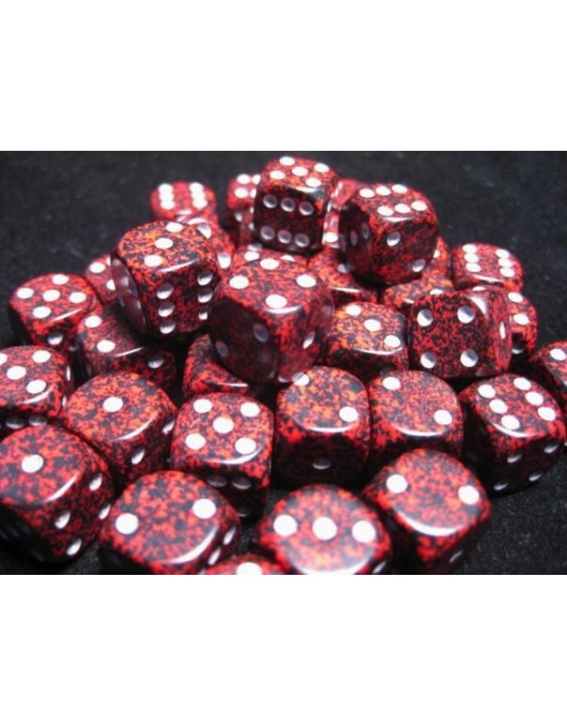Chessex CHX25944 12mm d6 Speckled Silver Volcano