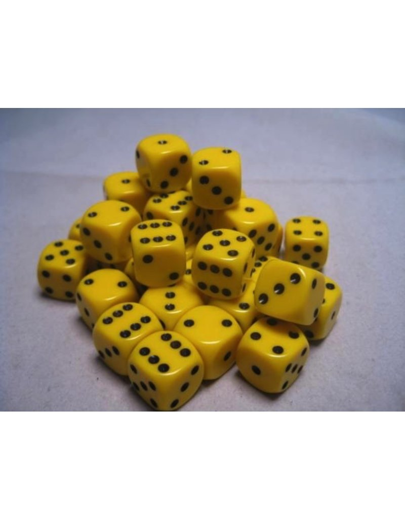 Chessex CHX25802 12mm d6 Opaque Yellow with Black