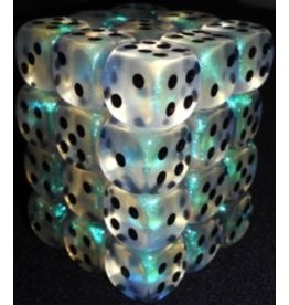 Chessex CHX27820 12mm d6 Borealis Aquerple with Black