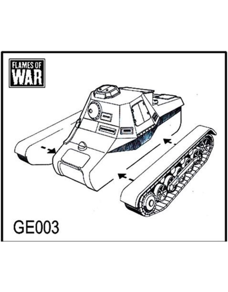 Flames of War GE003 Panzerbefehlswagon - Panzer I Command (x2)