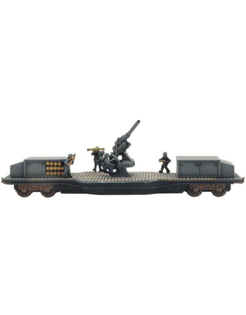 Flames of War GBX87 10.5cm FlaK Railway Car