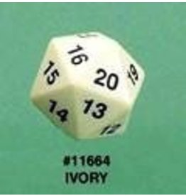 Koplow d20 55mm Ivory (Bagged)