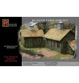 Pegasus Hobbies Pegasus Russian Farm Houses 1:72