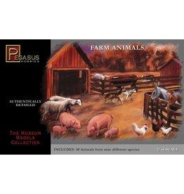 Pegasus Hobbies Pegasus Farm Animals 1:48