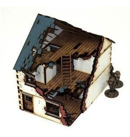 Warlord Games Pre-Painted Damaged Detached House