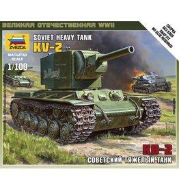 Zvezda ZVE6202 1/100 Soviet KV-2 Tank