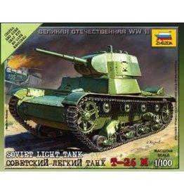 Zvezda ZVE6113 Zvezda WWII: Soviet Light Tank T-26 M 1/100
