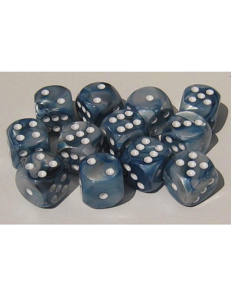 Chessex CHX27690 16mm d6 Lustrous Slate with White