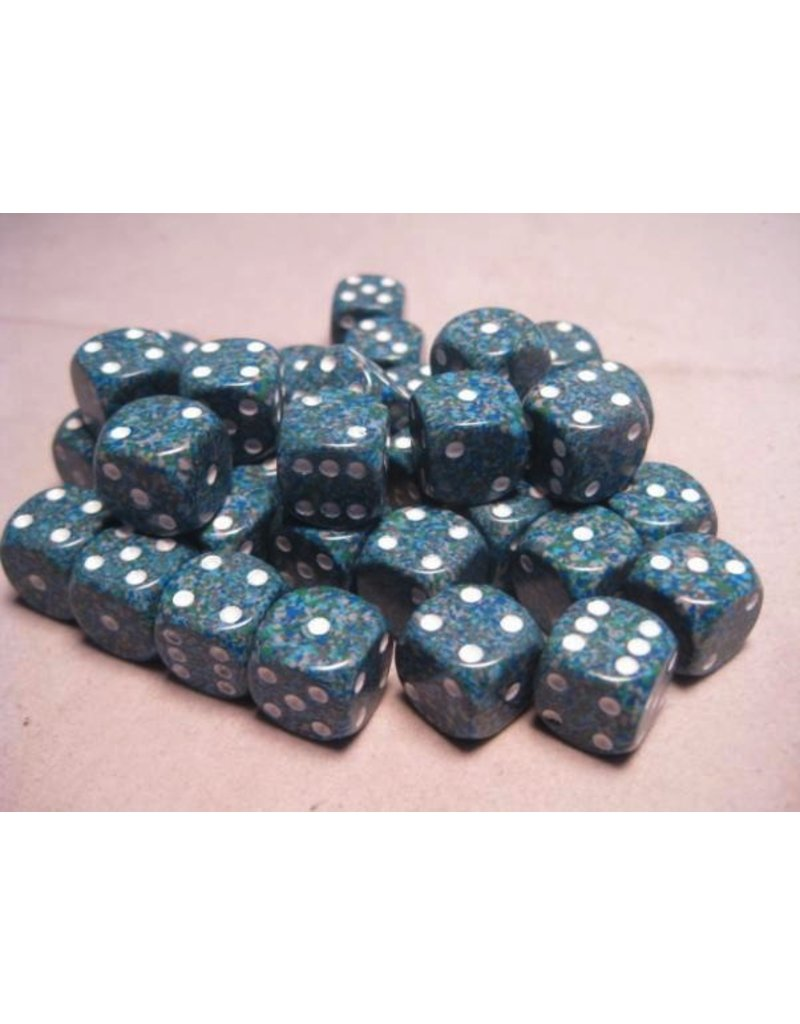 Chessex CHX25916 12mm d6 Speckled Sea