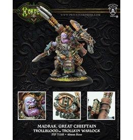 Warmachine Hordes\ PIP71105 Trollbloods: Madrak, Great Chieftan Warlock