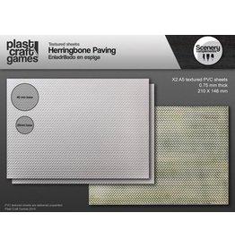 Plast Craft 28mm Scenery Compliments: Herringbone Paving