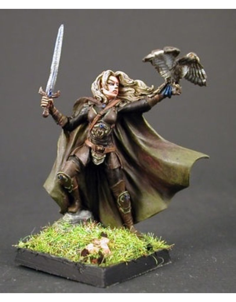 Dark Sword Miniatures VIF Female Ranger with Sword and Falcon