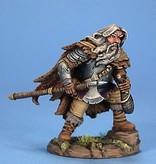 Dark Sword Miniatures VIF Male Dwarf Fighter with Wine Skin