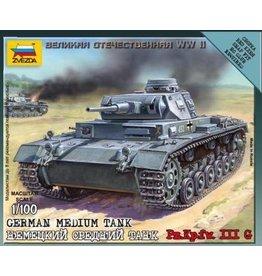 Zvezda ZVE6119 1/100 German Panzer III G
