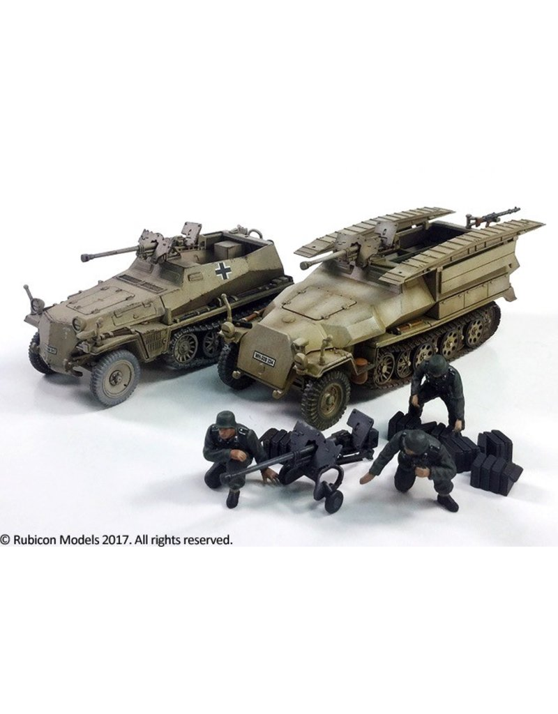 Rubicon Models DIRECT 28mm Rubicon Models: SdKfz 250-251 Expansion Set - SdKfz 250/11 & 251/7 sPzB 41 AT Rifle