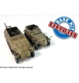 Rubicon Models DIRECT 28mm Rubicon Models: SdKfz 250/251 Expansion Set - SdKfz 250/7 &251/2 Mortar Carrier