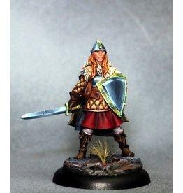 Dark Sword Miniatures ViF Female Warrior with Sword and Shield