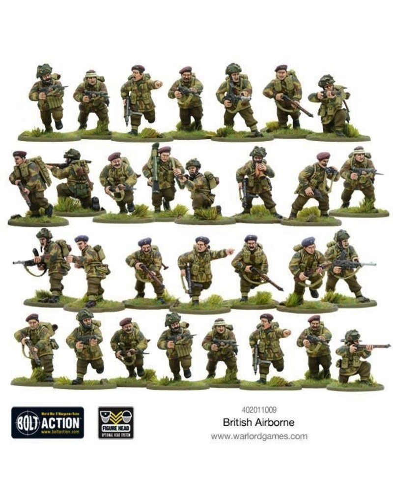Bolt Action BA British Army: British Airborne WWII Allied Paratroopers