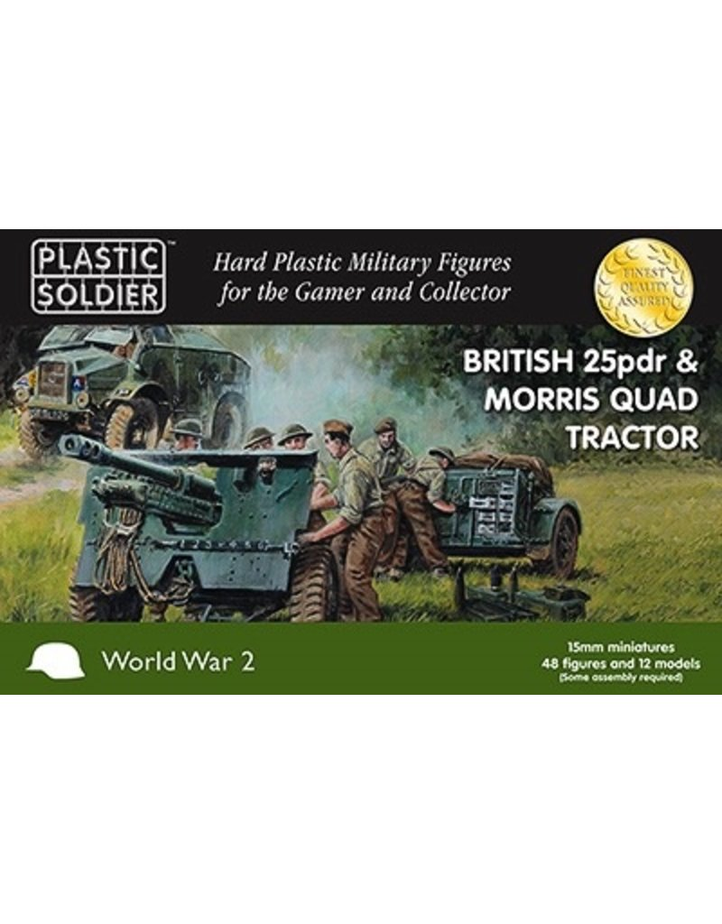 Plastic Soldier Company 15mm British 25pdr & Morris Quad Tractor