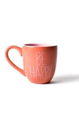 Coton Colors Be Happy 4.25 Mug Persimmon