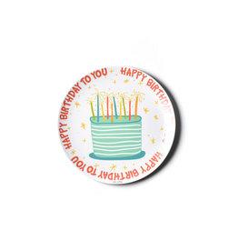 "Coton Colors Happy Birthday Boy 10"" Melamine Dinner Plate"