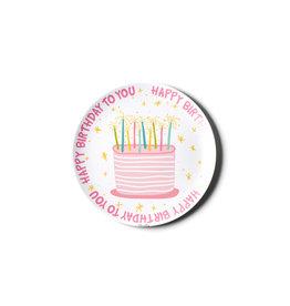 "Coton Colors Happy Birthday Girl 10"" Melamine Dinner Plate"