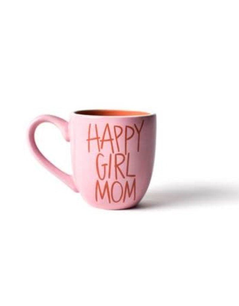 Coton Colors Happy Girl Mom 4.25 Mug Pink