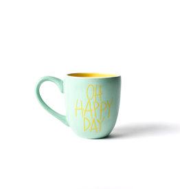 Coton Colors Oh Happy Day 4.25 Mug Mint