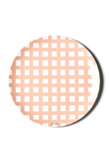 "Coton Colors Gingham 10"" Melamine Dinner Plate Pink"