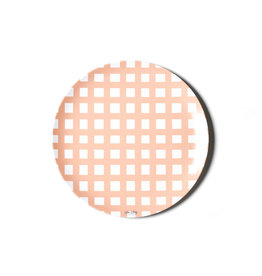 """Coton Colors Gingham 10"""" Melamine Dinner Plate Pink"""
