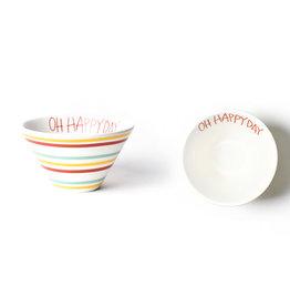 Coton Colors Multi Bright Stripe Oh Happy Day Mod Small Bowl