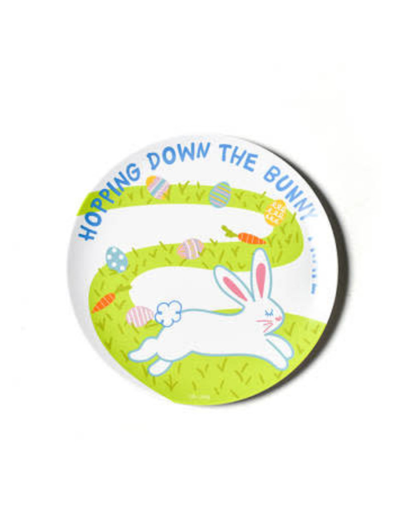 """Coton Colors Easter Bunny Trail 10"""" Melamine Dinner Plate"""