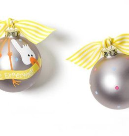 Coton Colors Stork We're Expecting Glass Ornament