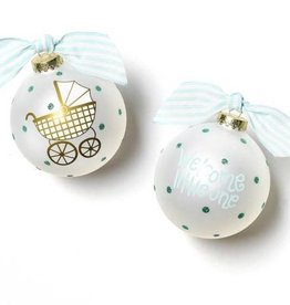 Coton Colors Welcome Little One Carriage Boy 100MM Glass Ornament