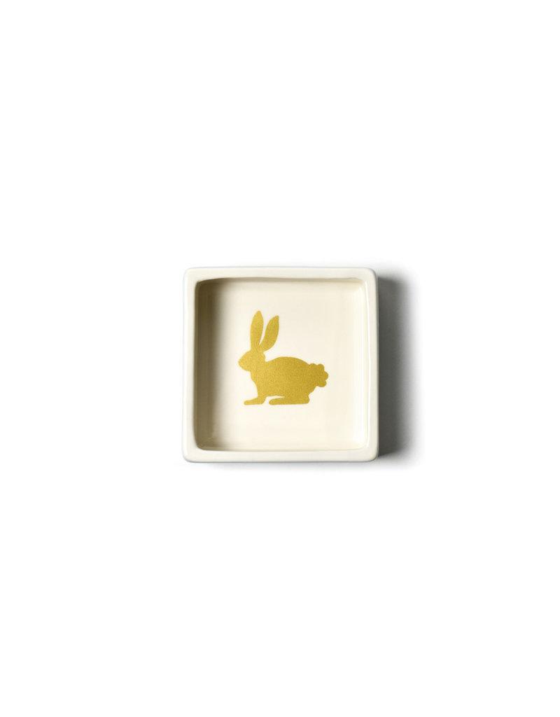 Coton Colors Rabbit 3.5 Square Trinket Bowl Smoke